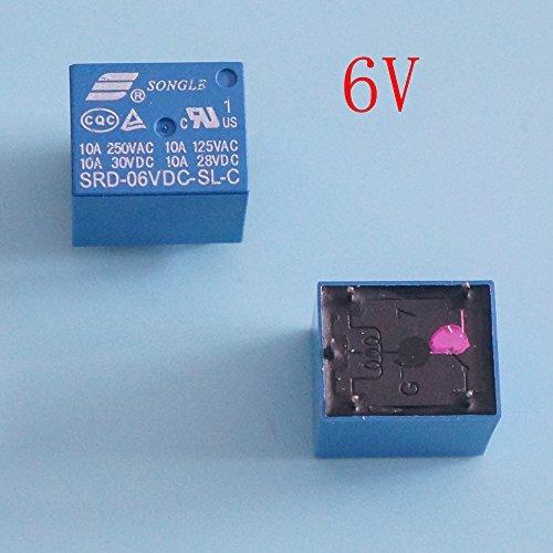 songle 6V DC SPDT Power Relay srd-6vdc-sl-c 5Stück Dc-power-distribution-modul