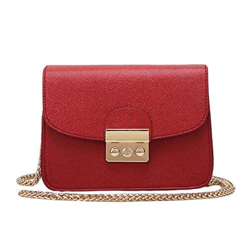 Piccola Custodia Signora Messenger Bag Pacchetto Quadrato Mini Pacchetti Per Natale Red