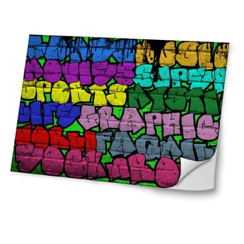 Graffiti 10031, Super Graphic, Skin-Aufkleber Folie Sticker Laptop Vinyl Designfolie Decal mit Ledernachbildung Laminat und Farbig Design für Laptop 11.6