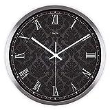 G. Medalis Modern Quartz Lautlos Wanduhr Schleichende Sekunde Ohne Ticken mit lautlosem Uhrwerk Römische Muster Wanduhr 12 Zoll, C