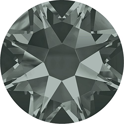 100 Stück SWAROVSKI® Kristalle 2088 ohne Kleber SS20 (ca. 4.7mm) Black Diamond (Diamond Black Stein)