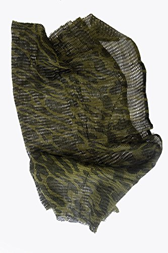 Camuflaje cañamazo neta 100cm x 198cm, redes bufanda militar del Ejército. de gasa