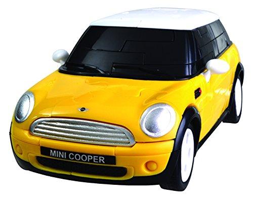 Eureka 52473416 - Puzzle-3D Mini Cooper 1:32, gelb - Eureka Mini
