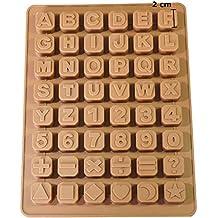 Jabón profesionales 26 letras – Extra Estable de silicona molde Jabón Chocolate Forma 34 * 22.5