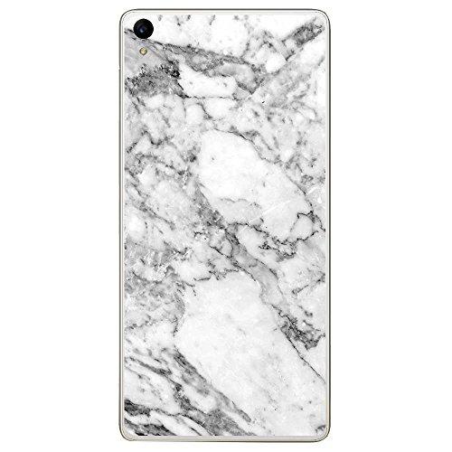 Housse Coque Etui Archos Diamond S silicone gel Protection arrière - Marbre Blanc