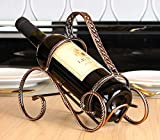 wine holder Red Wine Rack Artistic Red Wine Rack Vintage Iron Decoration Home Simple Metal Wine Bottle Display Stand Wine Racks (Size : 1)