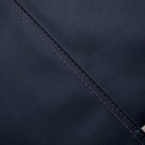Cartella Di Affari Calcolatore Casuale Degli Uomini Impermeabili Sacchetto Di Modo Uomo Borsa Di Stoffa Di Oxford Blue