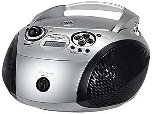Grundig - RCD 1445 - Radio stéréo CD USB - Argent/Noir (Import Allemagne)