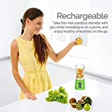 BUYERZONE WITH BZ LOGO Portable Plastic Fruit Juicer Blender, 380 ml , Multicolour