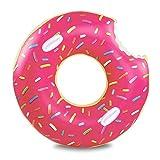Schwimmring Donut NuoYo Aufblasbarer Schwimmhilfen mit Biss Sicherheitsgriff für Pool Party XXL 120cm Durchmessser
