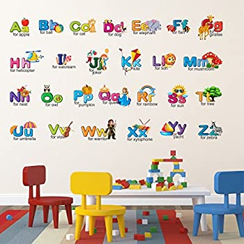 Wallstick 'Creative Alphabets' Wall Sticker (Vinyl,120 cm *70 cm)