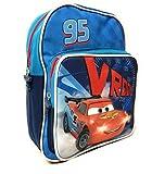 Kleiner Rucksack Cars mit Fronttasche - Lightning McQueen Schultasche für Kinder - Disney Pixar Kinderrucksäcke - Blau - 30x24x12 cm - Perletti