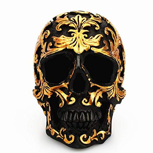 Newin Star 1 Stück Tattoo Schädel Figur für Halloween Spukhaus Dekoration