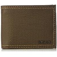 Levis 2019 Mens Wallet, Card Case & Money Organizer, Brown, 14 31LV240012