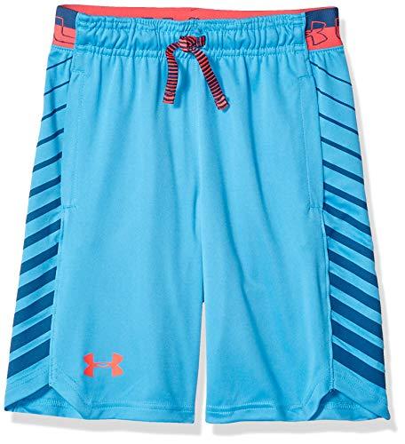 Under Armour Jungen Mk1 Shorts Ether Blue (452)/Red Rage, Jugend Large - Under Armour Jungen Streifen
