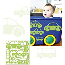 MYVINILO - Vinilo infantil - mini - cars verde claro (28 x 28 cm)