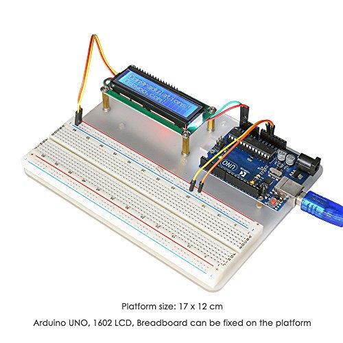 51NPcsG9BNL - KOOKYE Uno R3 ATmega328 completo kit de arranque para Arduino con 19 proyectos