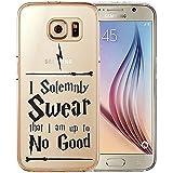 "Coque TPU Harry Potter transparente pour iPhone et smartphones Samsung, citation ""Mischief Managed"", protection écran incluse, Swear Quote, Samsung Galaxy S7"