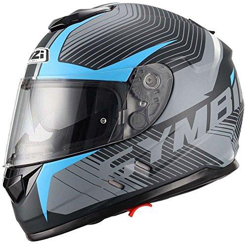 NZI Symbio Duo Graphics Casco De MotoTera Negro Azul,Grande