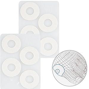 Druckstellen 8x Schutzringe Kosmetex, selbstklebend weiche Druckentlastung für Hornhaut, Schwielen und Blasen