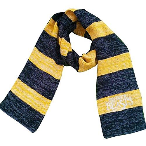 Bazarpro sciarpa di newt scamander tassoross/tassofrass - animali fantastici e dove trovarli - harry potter