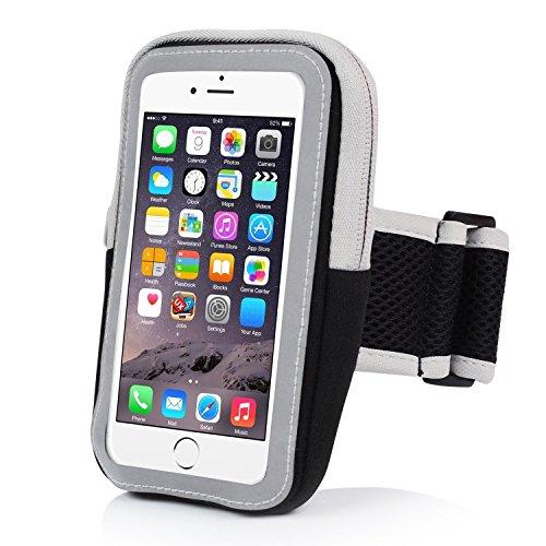 MR Couture Sport Armband Smartphone Tasche aus Neopren wasserabweisend und schweißfest für Handys wie iPhone Samsung HTC und Android bis 5,5 Zoll – perfekt zum Joggen Wandern Fahrrad fahren & Fitness