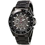 Michael Kors Men's JetMaster 45mm Black IP Steel Bracelet & Case Automatic Gun Metal/Black Watch MK9012