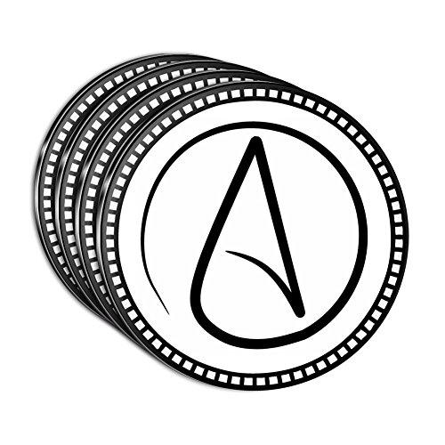 atheisme-symbole-acrylique-dessous-de-verre-lot-de-4