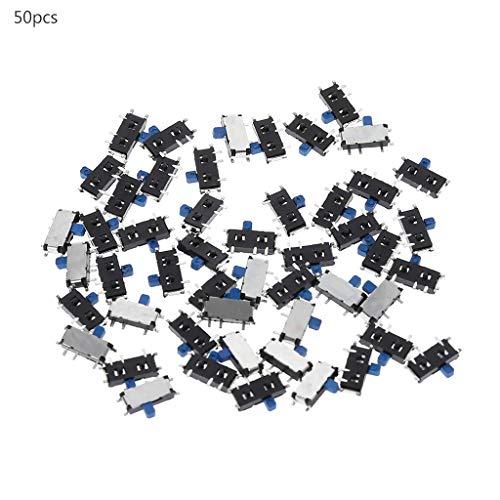 Celan 1P2T SPDT MSK-12C02 SMD-Schiebeschalter für MP3- und MP4-Player, 7-polig, EIN-/ausschaltbar, 50 Stück -