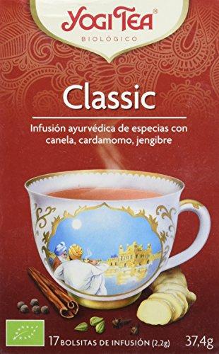 Yogi Tea Infusión de Hierbas Classic, pack de 3 x 17 bolsitas