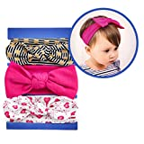 MBW 3 Stck Kopfband Baby 0 – 24 Monate verknotete Stirnband Baby-Turban Mädchen Haarband