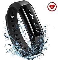 Braccialetto Fitness Uomo IP68, Mpow Smartwatch Cardiofrequenzimetro Contapassi Activity Tracker Impermeabile IP68 Bracciali Fitness Uomo Pedometro Calorie Monitor del Sonno Notifiche per iOS Android
