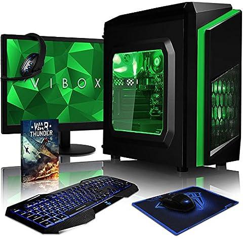VIBOX Killstreak LA4-131 Komplett-PC Paket Gaming PC - 4,1GHz AMD A6 Dual-Core APU, Desktop Gamer Computer mit Spielgutschein, 22