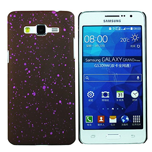 Heartly Night Sky Glitter Star 3D Printed Design Retro Color Armor Hard Bumper Back Case Cover For Samsung Galaxy Grand Prime SM-G530H - Maroon Purple  available at amazon for Rs.199