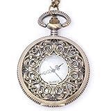 81stgeneration Women's Brass Vintage Style Pocket Watch Chain Pendant Necklace, 78 cm - 81stgeneration - amazon.co.uk