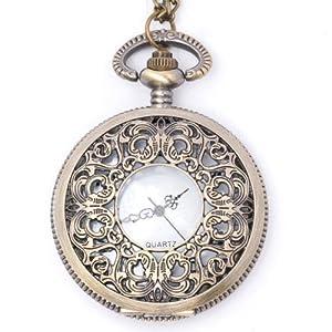 Brass Vintage Style Pocket Watch Necklace