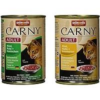 Animonda Katzenfutter Carny Adult Mix2 aus 4 Varietäten, 12er Pack (12 x 400 g)
