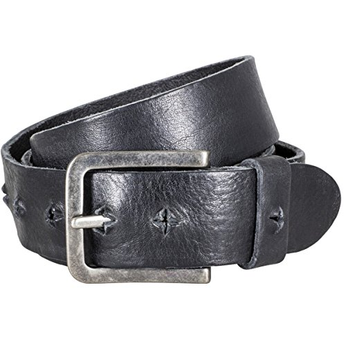 The Art of Belt by LINDENMANN Womens leather belt/Mens leather belt, premium washed full grain leather belt, Unisex, black