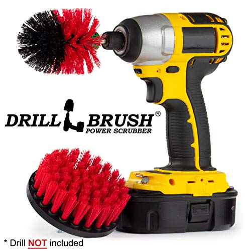 Outdoor - Horse - Farm - Barn - Cleaning Supplies - Drill Brush - Stiff Bristle Power Scrubber Kit for - Rubber Mat - Water Trough - Buckets - Concrete - Stone - Brick - Spin Brush - Concrete Pools -