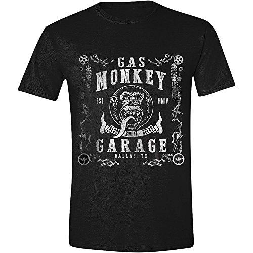 Gas Monkey Garage Herren T-Shirt GMG BSB Classic Logo Schwarz