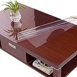 PVC-Tischdecke, Wasserdicht, Verbrühschutz, Ölbeständig, Einweg-Weichplastik-Glastischdecke, Transparente Tischmatte,3.0Mm,80 * 130Cm
