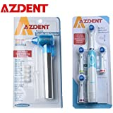 Electric Toothbrush With 4 Brush Heads Sets + Blue Teeth Burnisher Polisher Whitener Stain Remover Battery Operated