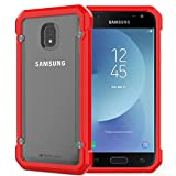 TECHGEAR® Fusion Armour Coque Protective Solide Svelte Anti-Choc Compatible pour Samsung Galaxy J3 2017 (Séries SM-J330) (Rouge/Givré)