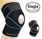 AOHAN Kniebandage Verstellbare Bandage Knie Ärmel Kalte Schulter Pads für Sport Running Klettern Reiten Basketball Badminton, blau, Einheitsgröße