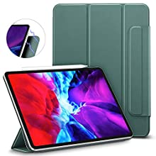"ESR Rebound Magnetic Smart Case for iPad Pro 12.9"" 2020/2018, Convenient Magnetic Attachment, Auto Sleep/Wake Trifold Stand Case - Forest Green"