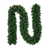 Gartenpirat Türgirlande Länge 2.7M Künstliche Tannengirlande Beleuchtet Weihnachten Girlande Dekorieren Tannen Grün