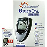 Dr. Morepen BG-03 Gluco One Glucometer Combo, 50 Strips (Multicolor)