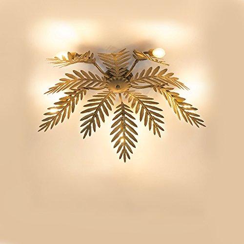 QAZQA Retro Vintage Deckenleuchte/Deckenlampe / Lampe/Leuchte 5-flammig Gold/Messing - Botanica/Innenbeleuchtung / Wohnzimmer/Schlafzimmer / Küche Metall Rund LED geeignet E14 Max. 5 x 40 Wa