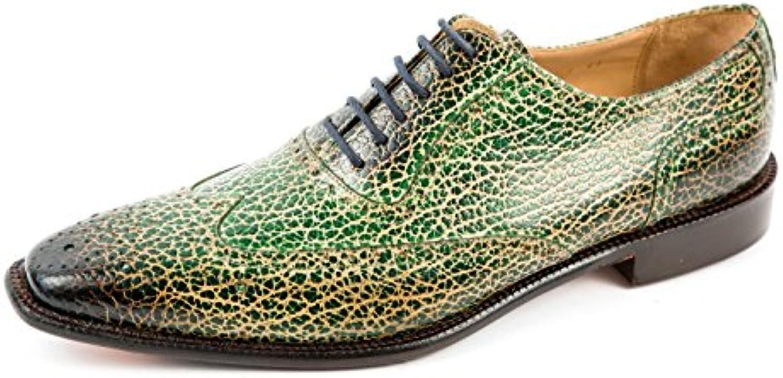 Melvin & Hamilton MH15-725 - Zapatos de Cordones de Piel Lisa para Hombre Verde Verde 41 EU -