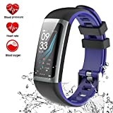 Fitness Tracker Watch Tracker di attività Smart Watch con monitor della pressione arteriosa della frequenza cardiaca, schermo a colori Smart Band con monitor di sonno Step Calorie Counter, orologio a pedometro, IP67 Smart bracciale impermeabile per Android e iOS (G26-2)
